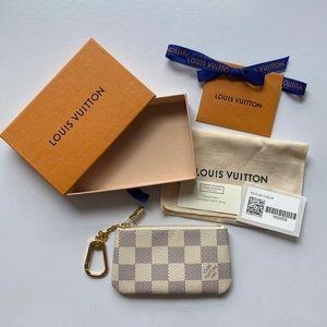 🇫🇷 New Louis Vuitton Damier Azur Cles Key Pouch